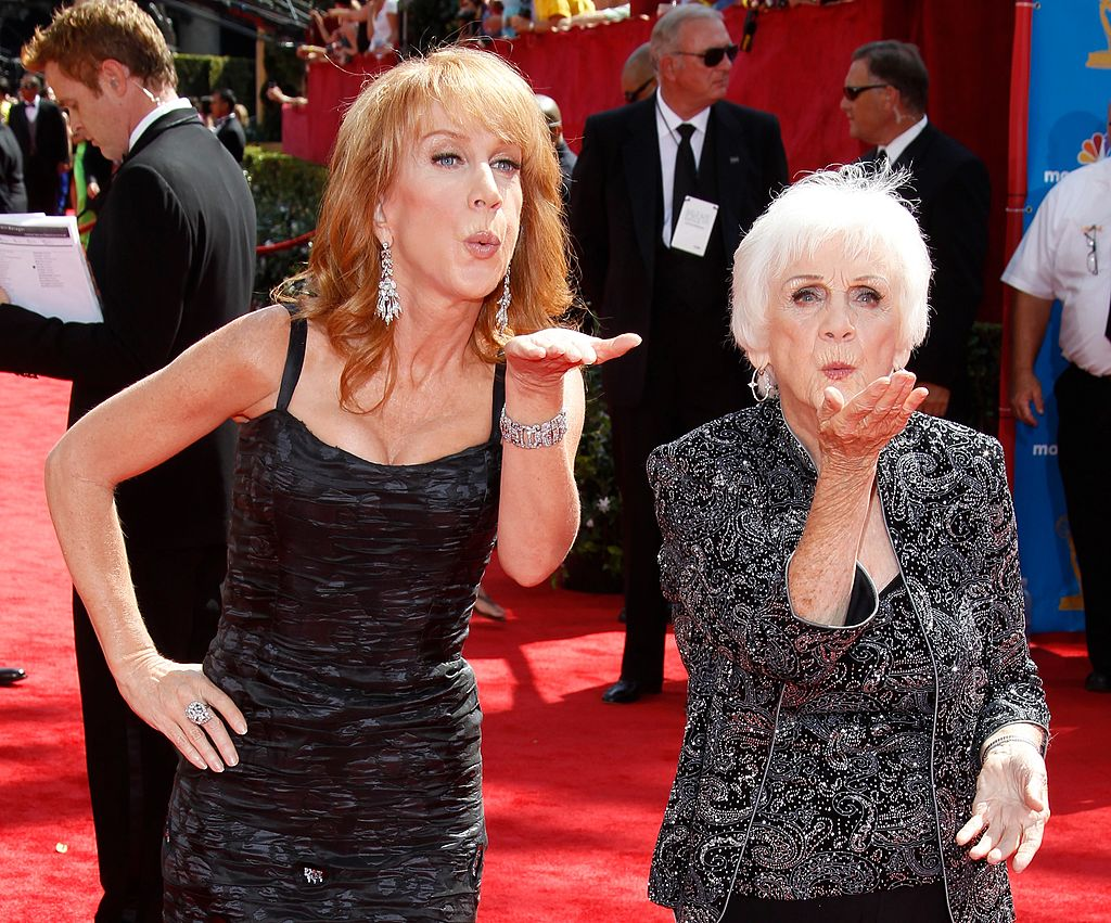 Kathy Griffin and mother Maggie Griffin attend the 62nd Annual Primetime Emmy Awards