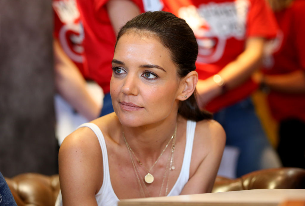 Katie Holmes at  McDonald's Haberfield for McHappy Day    Don Arnold/WireImage