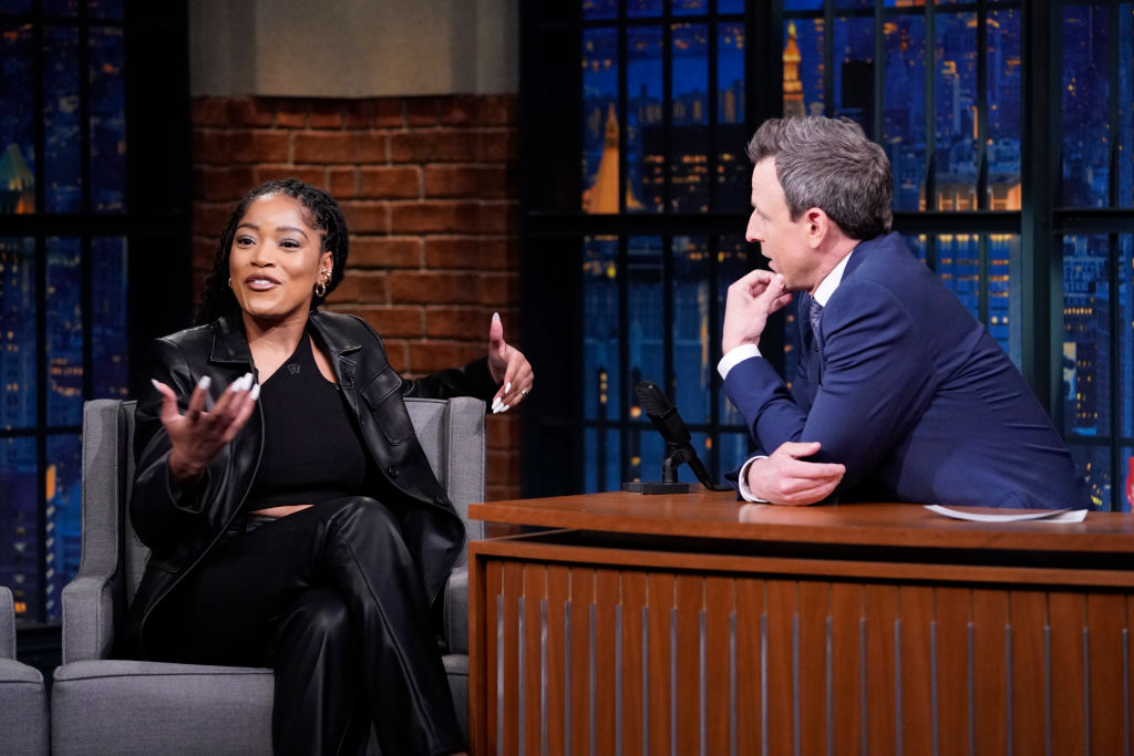 Keke Palmer and Seth Meyers