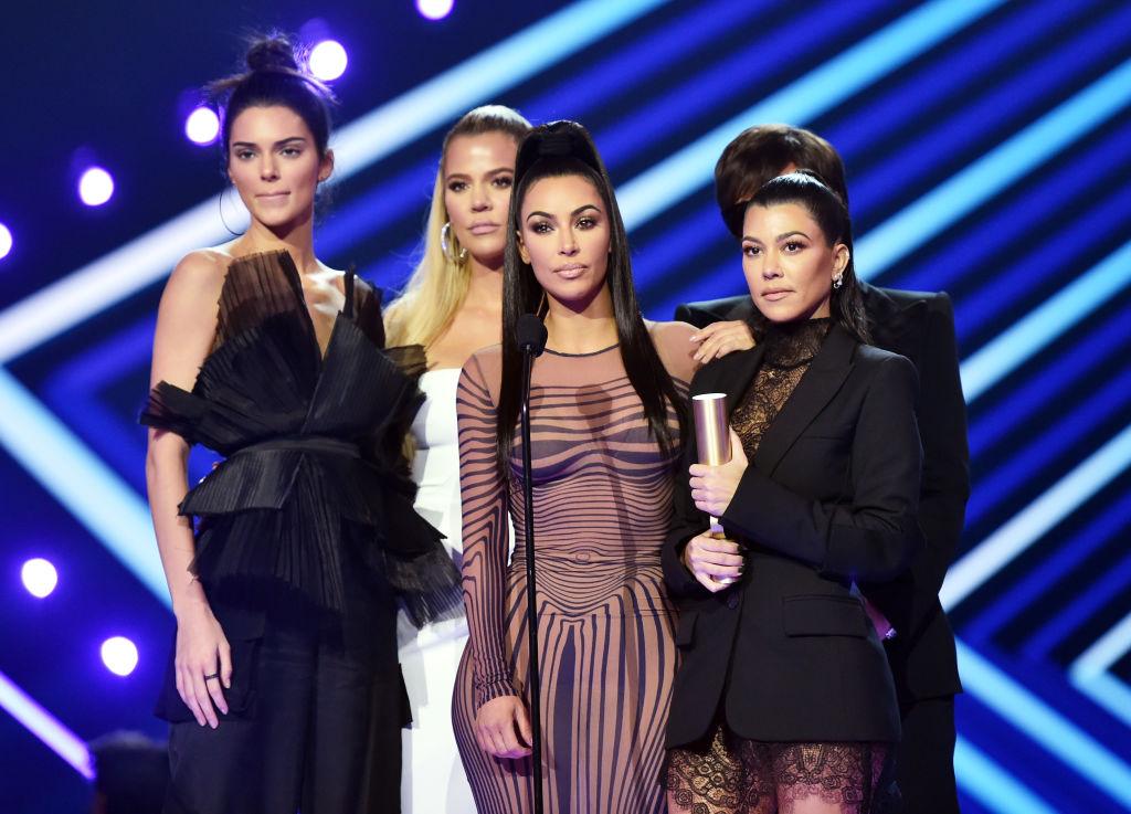 Kendall Jenner, Khloe Kardashian, Kim Kardashian, Kourtney Kardashian at 2018 People's Choice Awards