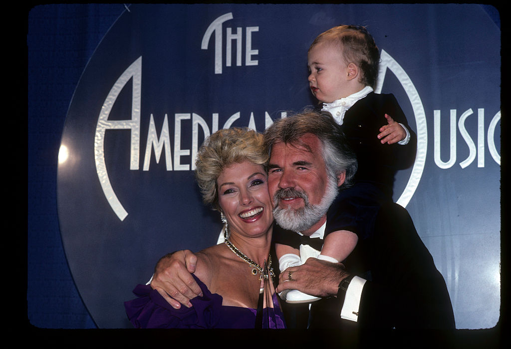 Kenny Rogers with former wife Marianne Gordon and their son Christopher Rogers | Walt Disney Television via Getty Images Photo Archives/Walt Disney Television via Getty Images
