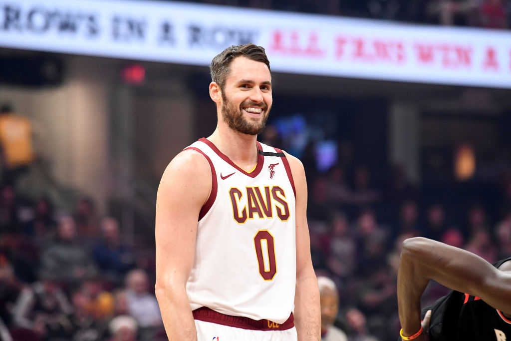 Kevin Love standing on the basketball court