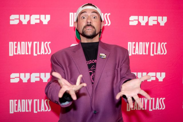 Kevin Smith on the red carpet