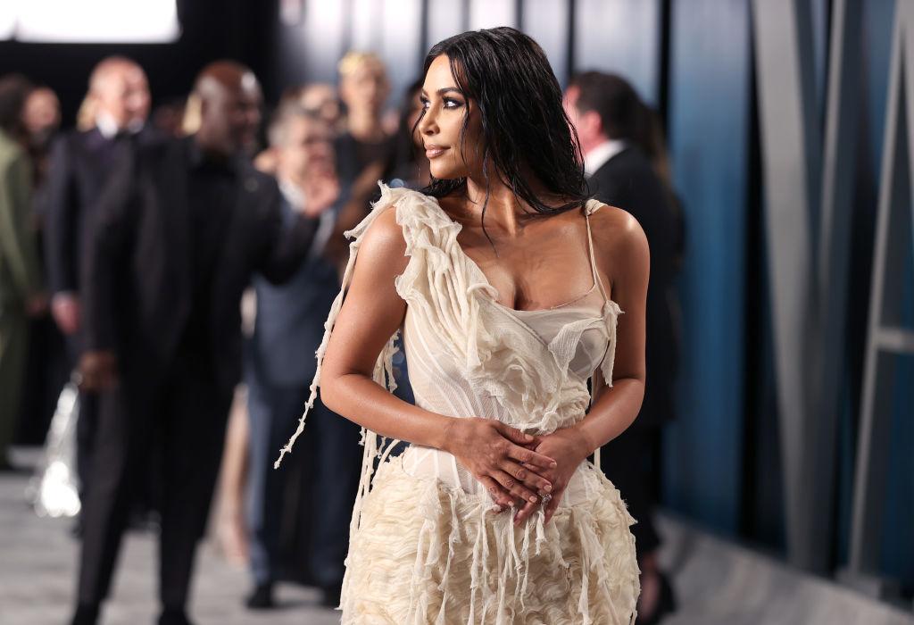 Kim Kardashian West looking off camera