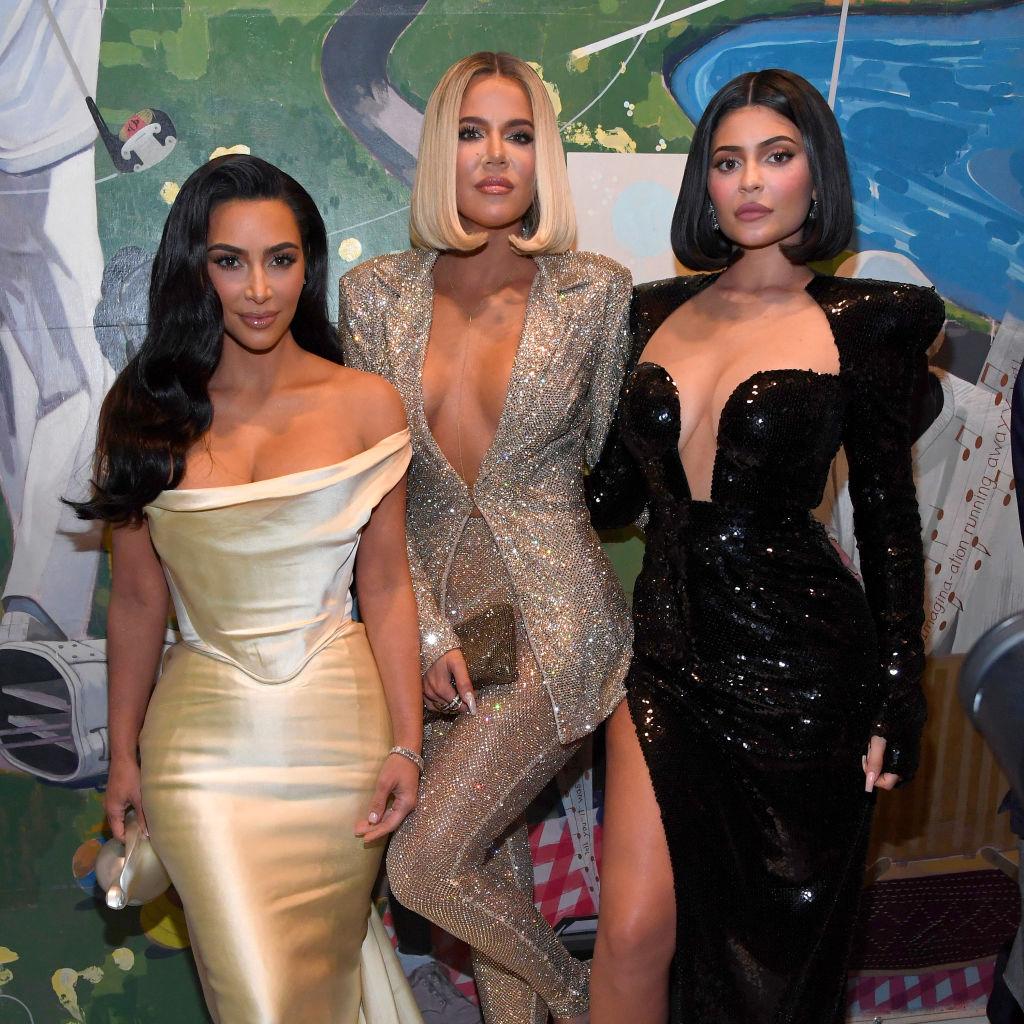 Instagram influencers Kim Kardashian West, Khloe Kardashian, and Kylie Jenner