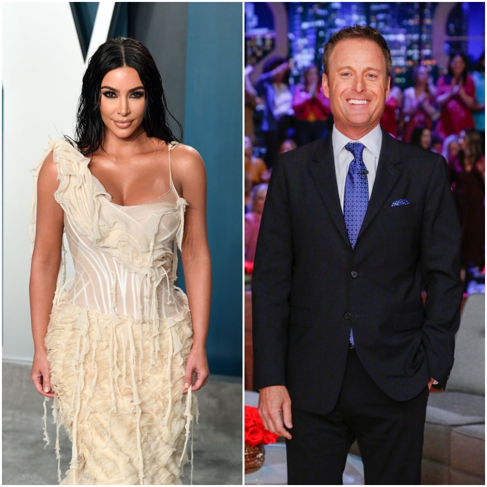 Kim Kardashian West and Chris Harrison