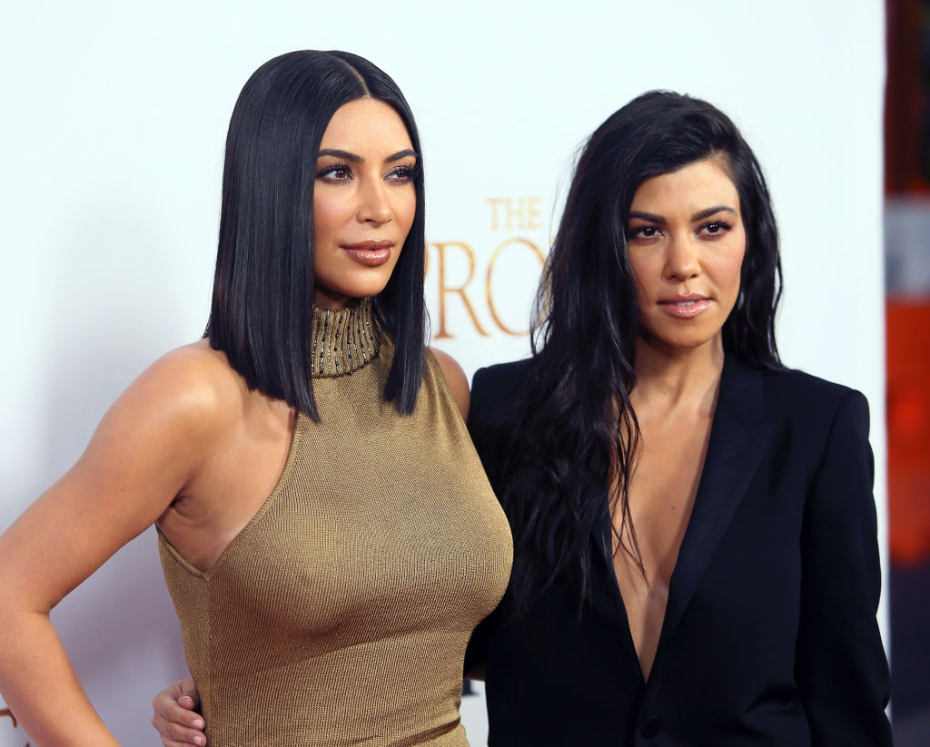 "Kim Kardashian West and Kourtney Kardashian attend Open Road Films' ""The Promise"" at TCL Chinese Theatre"