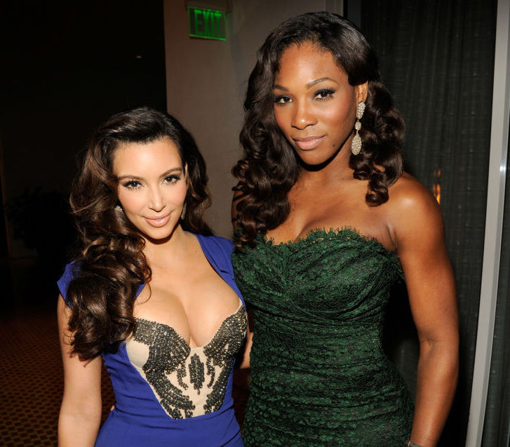 Kim Kardashian and Serena Williams