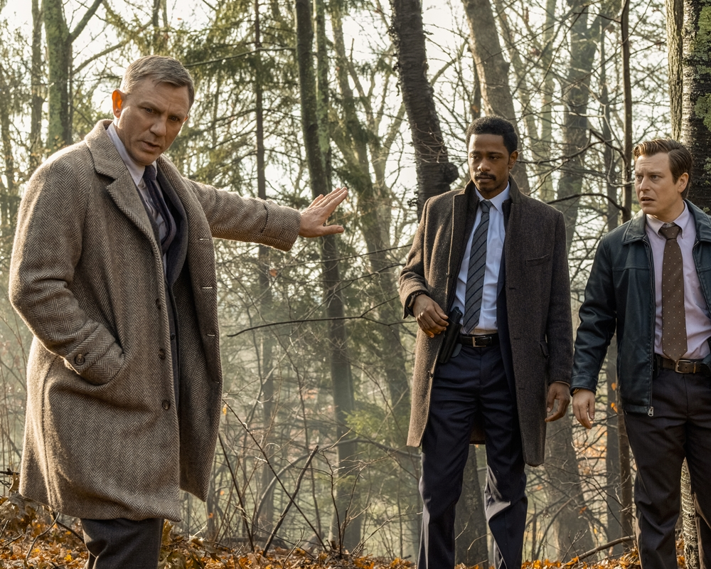 Knives Out: Daniel Craig, Lakeith Stanfield and Noah Segan