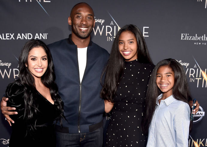 Vanessa, Kobe, Natalia, and Gianna Bryant at a movie premiere in March 2018