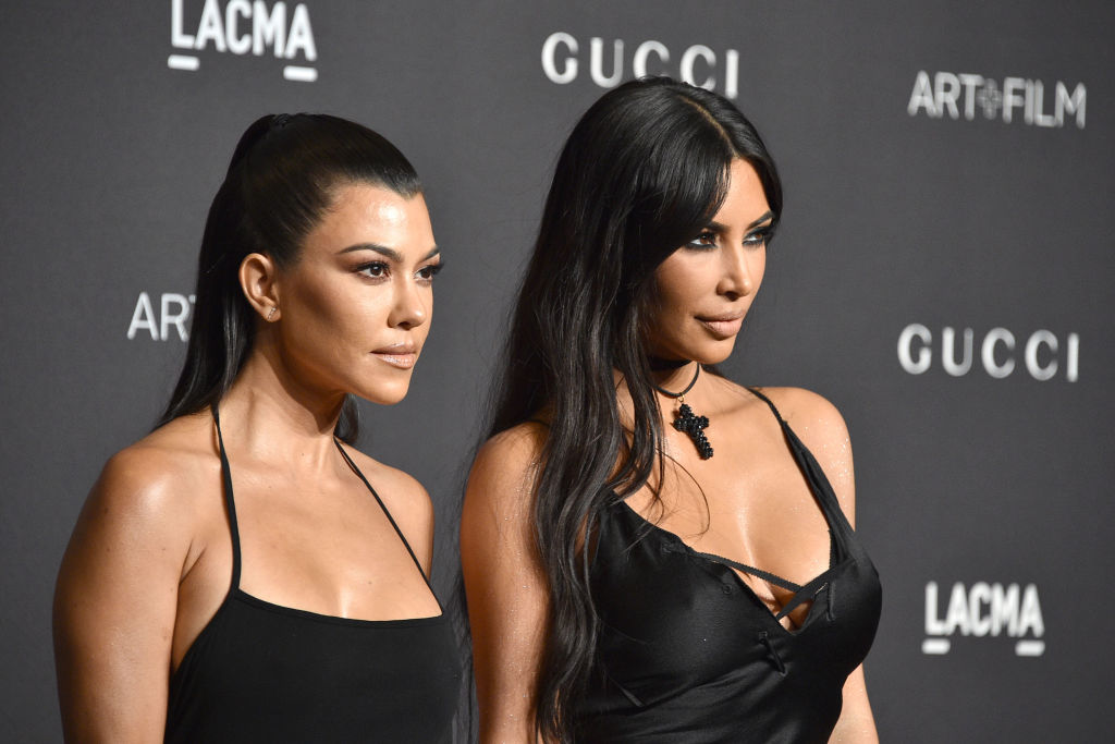 Kourtney Kardashian and Kim Kardashian attend LACMA Art + Film Gala 2018 at Los Angeles County Museum of Art