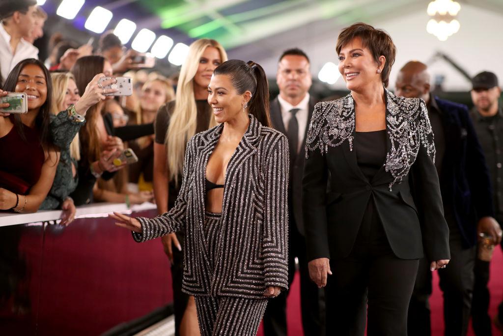 Kourtney Kardashian and Kris Jenner arrive to the 2019 E! People's Choice Awards