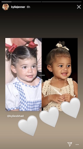 Kylie Jenner and her daughter share a lot of similarities.