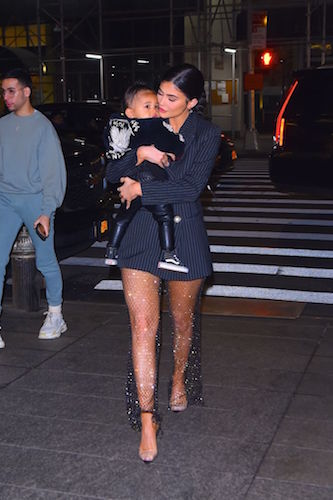Kylie Jenner and her daughter, Stormi