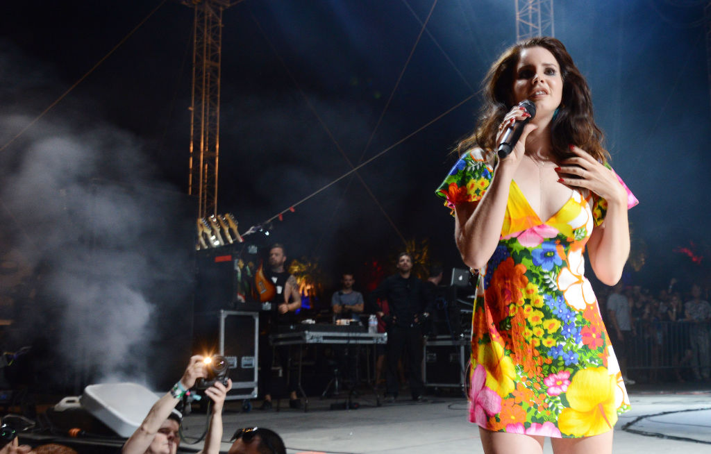 Singer Lana Del Rey performs during the 2014 Coachella Valley Music And Arts Festival