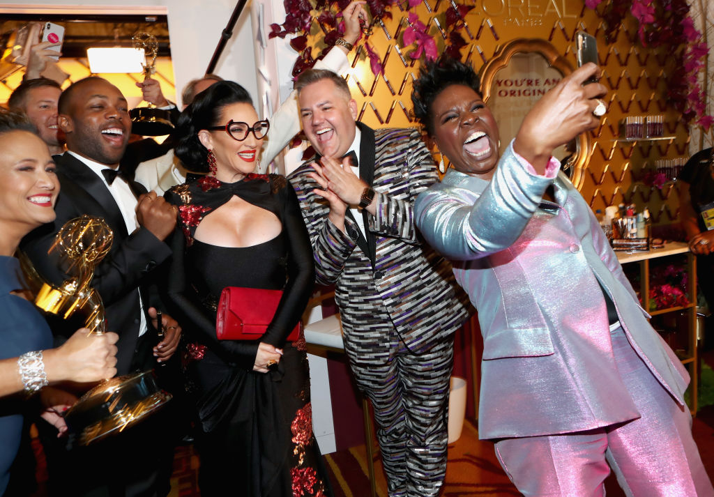 Cast and crew of Outstanding Reality-Competition Program winners for 'RuPaul's Drag Race'