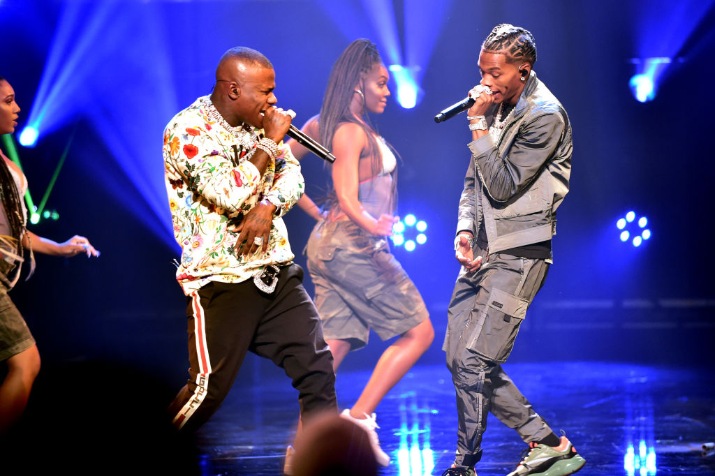 DaBaby and Lil Baby onstage at the BET Hip Hop Awards 2019