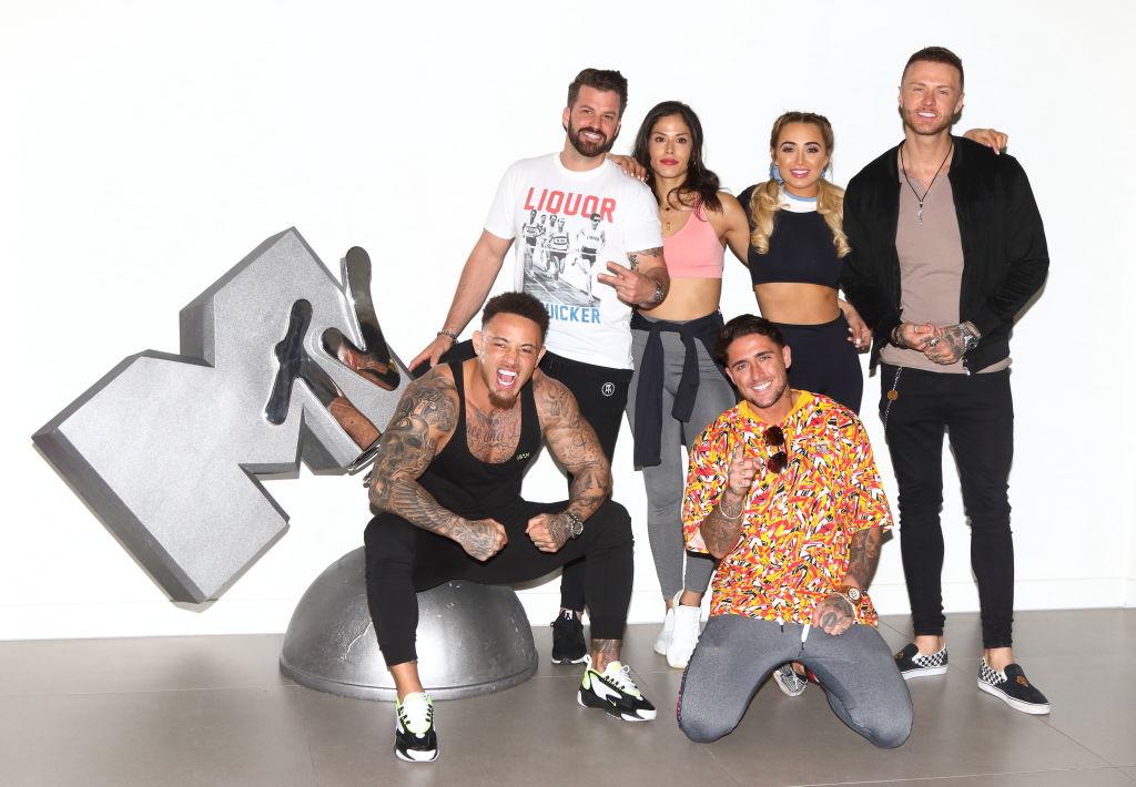 Ashley Cain, Johnny Bananas, Nany Gonzalez, Stephen Bear, Georgia Harrison and Kyle Christie from MTV's 'The Challenge'