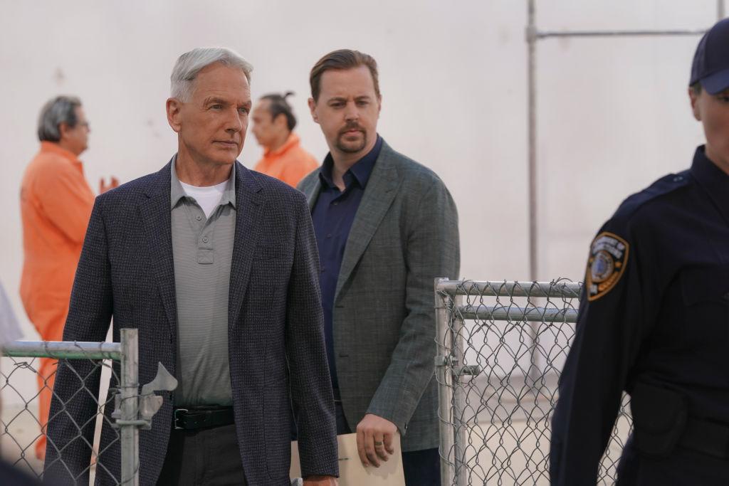 Mark Harmon and Sean Murray on NCIS |  Michael Yarish/CBS via Getty Images