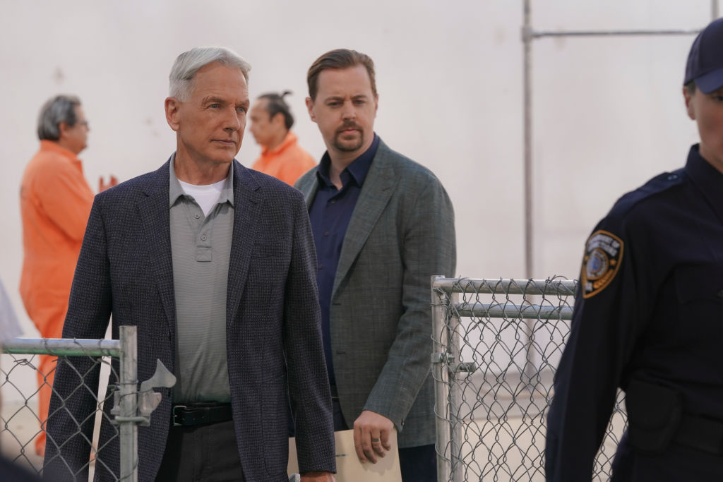 Mark Harmon and Sean Murray on NCIS |  Michael Yarish/CBS via Getty Images