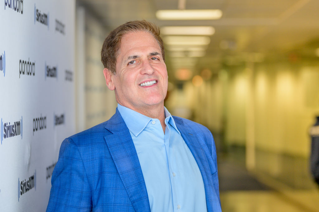 "Mark Cuban visits ""Heather B Live"" with host Heather B. Gardner at SiriusXM Studios"
