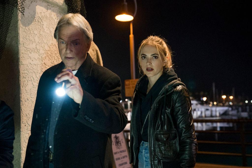 Mark Harmon and Emily Wickersham on NCIS    Monty Brinton/CBS via Getty Images