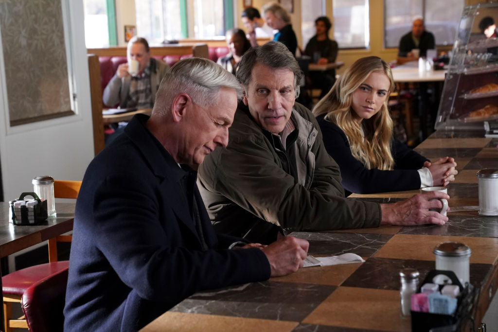 Mark Harmon, Gary Hudson, and Emily Wickersham |  Eddy Chen/CBS via Getty Images