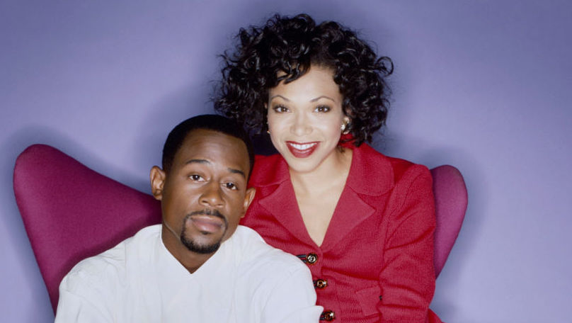 Martin Lawrence and Tisha Campbell of the tv show 'Martin'