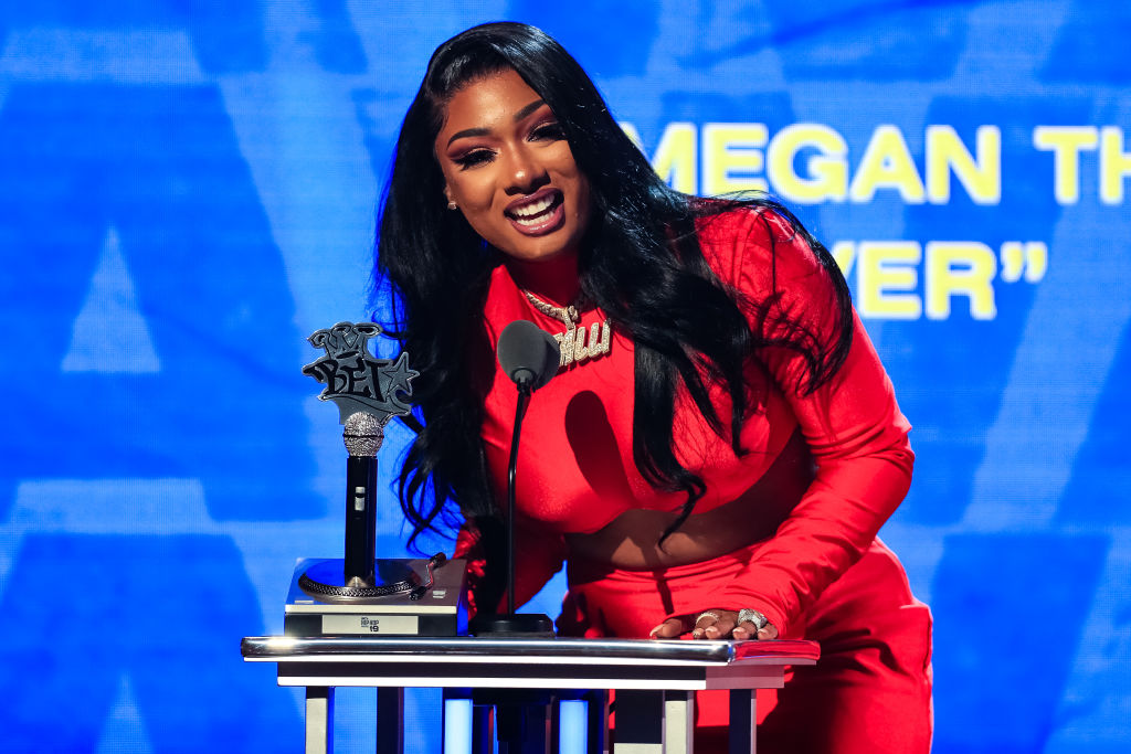 Megan Thee Stallion at an award show in October 2019