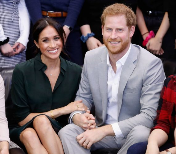 Meghan Markle and Prince Harry on Oct. 3, 2018, during an official visit to the Joff Youth Centre