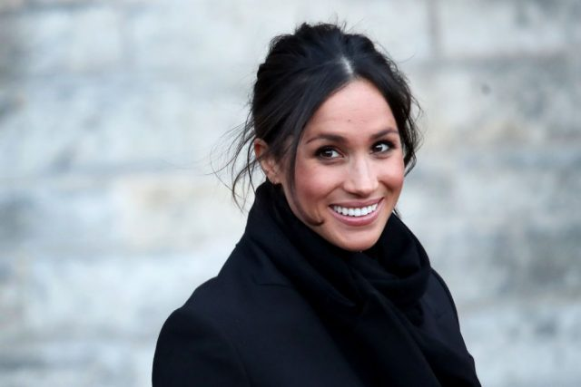 Meghan Markle visits Cardiff Castle on Jan. 18, 2018, with Prince Harry