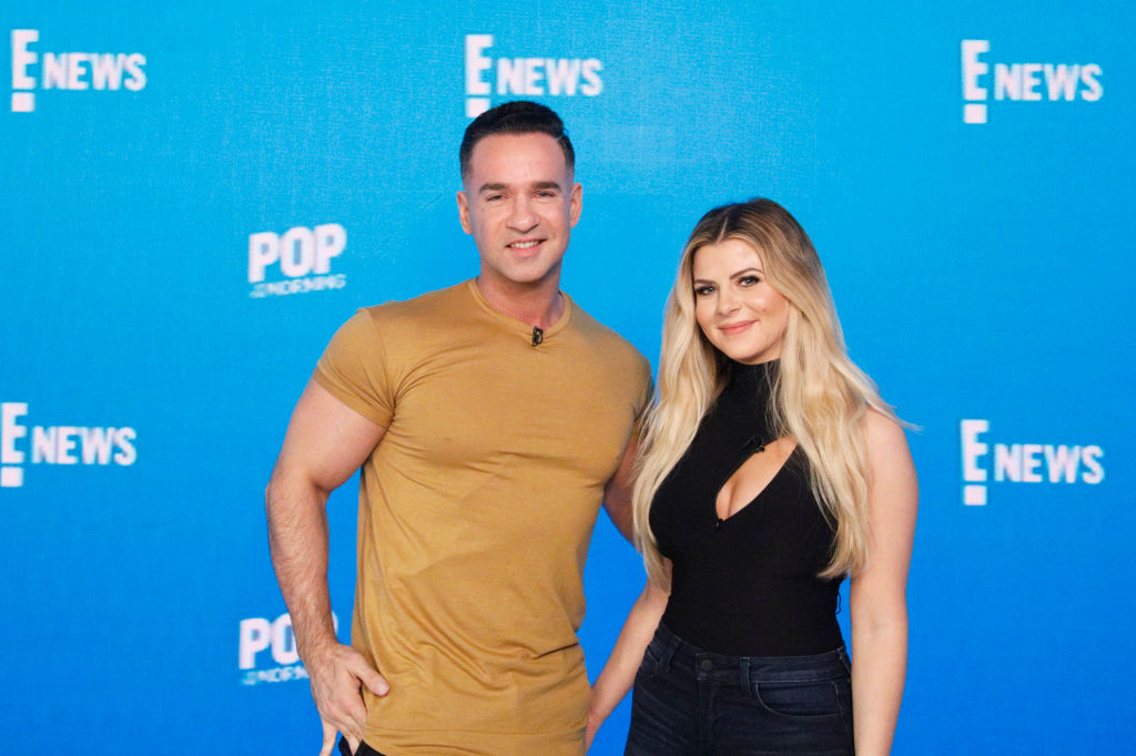 """Mike """"The Situation"""" Sorrentino of """"Jersey Shore: Family Vacation"""" and Lauren Sorrentino"""