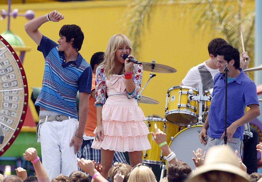 "Miley Cyrus on location for ""Hannah Montana: The Movie"""