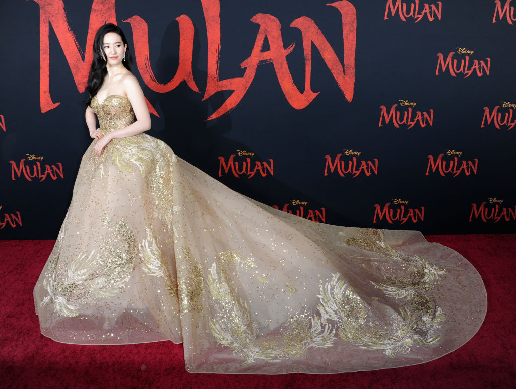 """Yifei Liu arrives for the Premiere Of Disney's """"Mulan"""""""