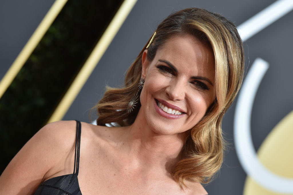 Natalie Morales attends the 75th Annual Golden Globe Awards