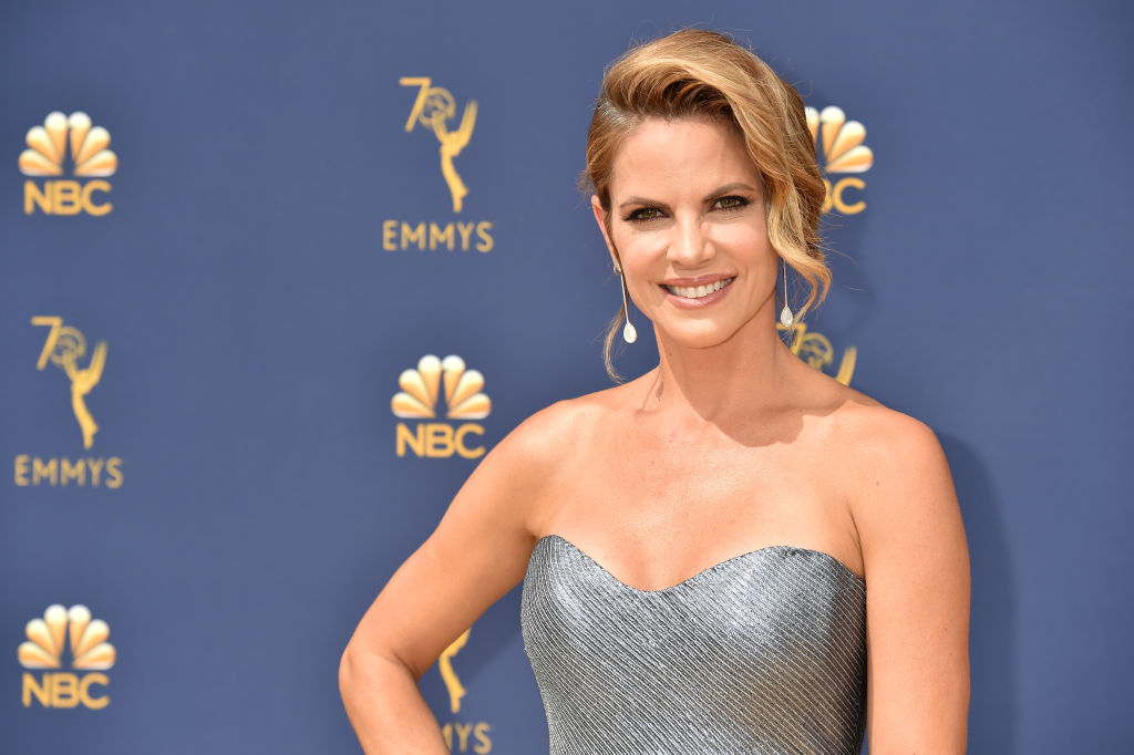 Natalie Morales attends the 70th Emmy Awards