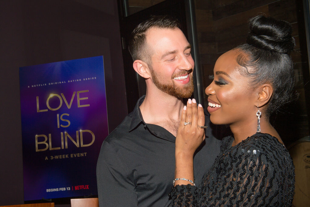Cameron Hamilton and Lauren Speed attend the Netflix's 'Love is Blind' VIP viewing party