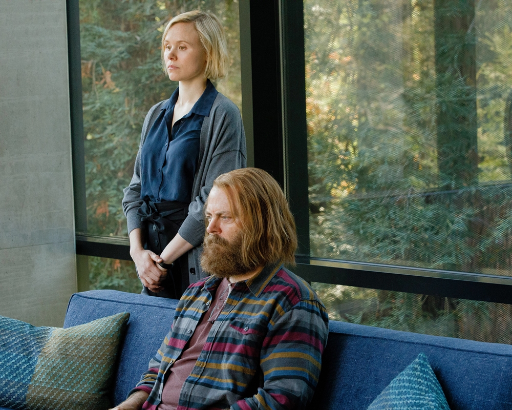 Nick Offerman and Alison Pill