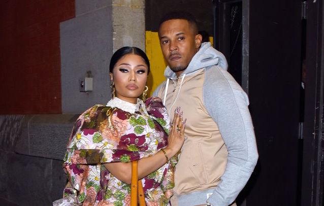 Nicki Minaj and husband Kenneth Petty at a fashion event in February 2020