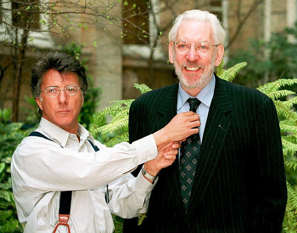 Dustin Hoffman and Donald Sutherland