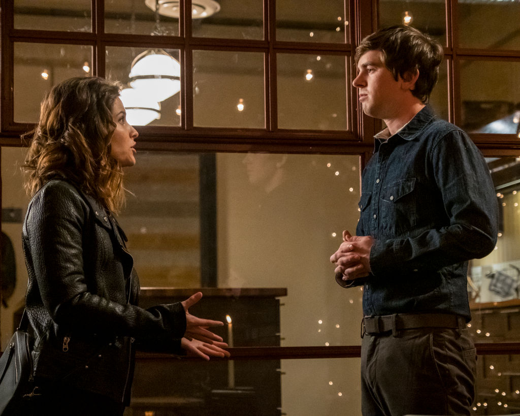 Paige Spara and Freddie Highmore | Kailey Schwerman/ABC via Getty Images