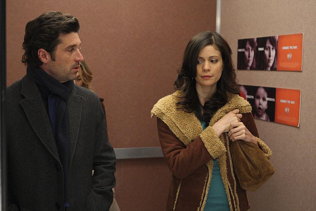 "Patrick Dempsey and Lauren Stamile of ""Grey's Anatomy"""