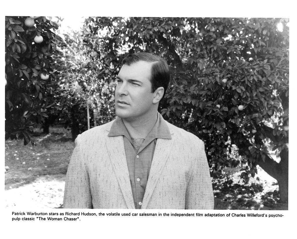 """Actor Patrick Warburton on set of the movie """"The Woman Chaser""""  circa 1999"""