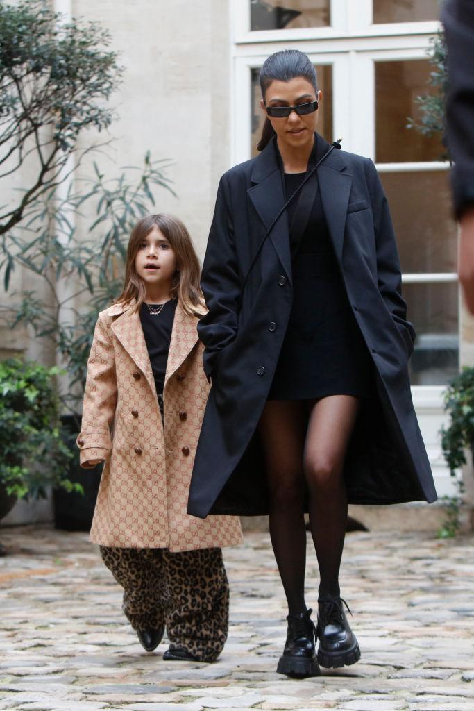 Penelope Disick and Kourtney Kardashian children