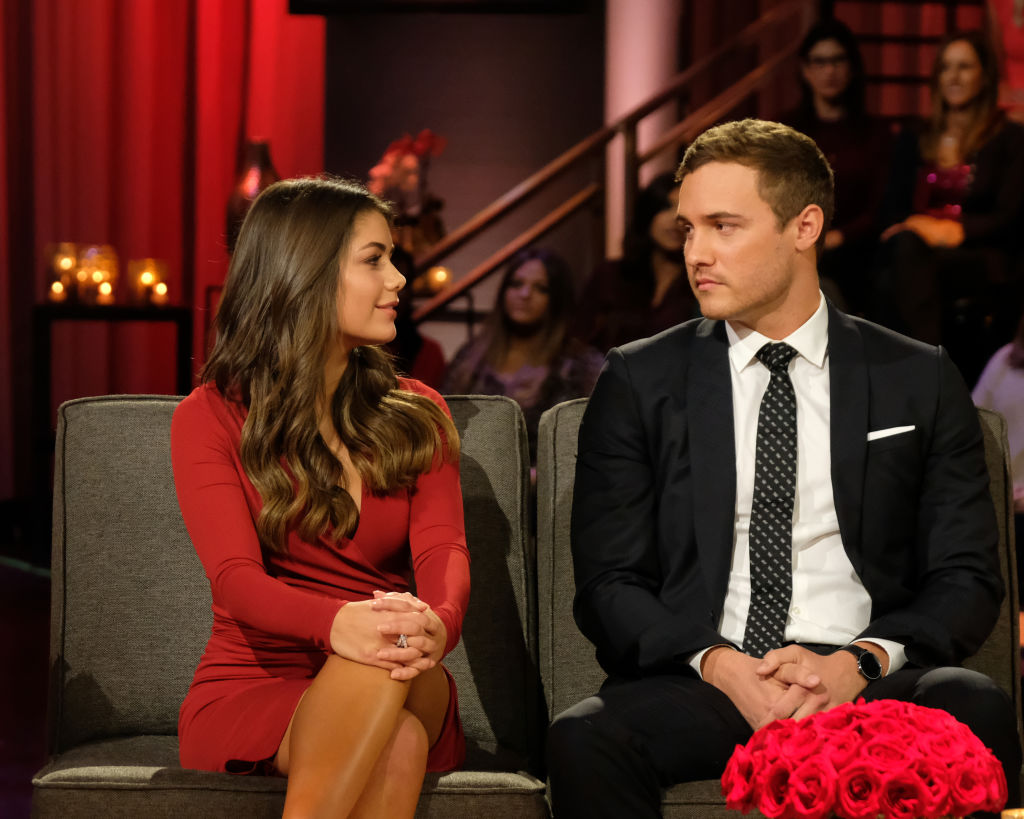 Peter Weber and Hannah Ann Sluss discuss their relationship in the hot seat during the second night of 'The Bachelor' live finale