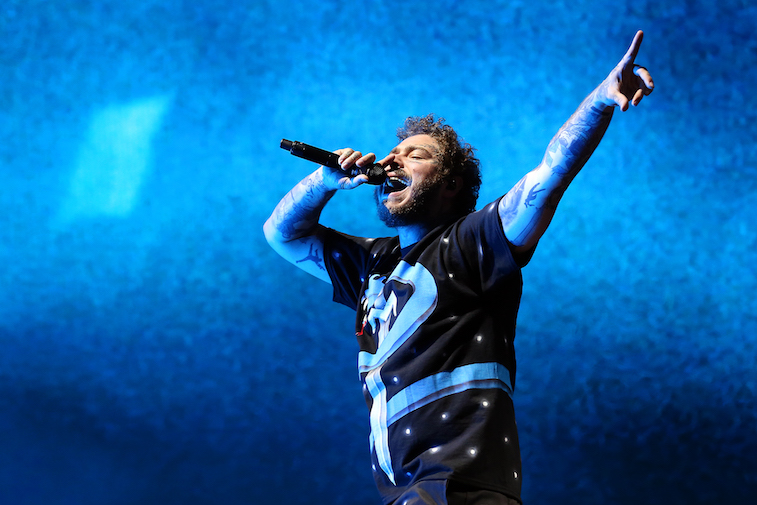 Post Malone performs onstage