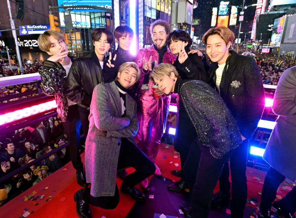 BTS and Post Malone on 'Dick Clark's New Years Rockin' Eve'
