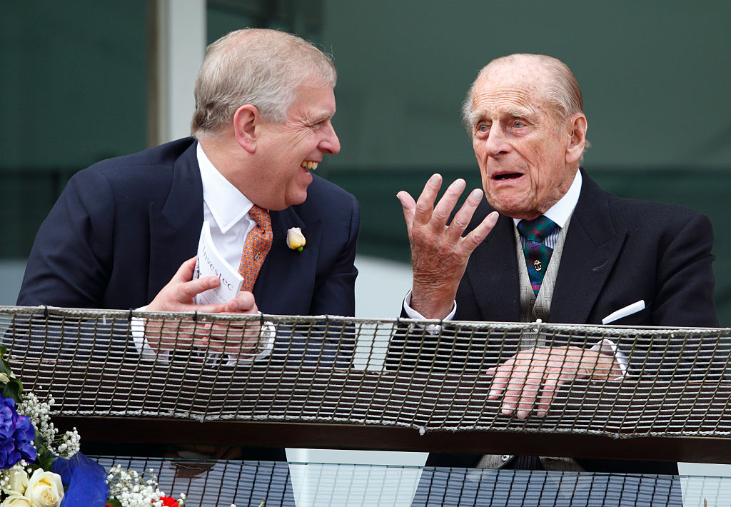 Prince Andrew and Prince Philip