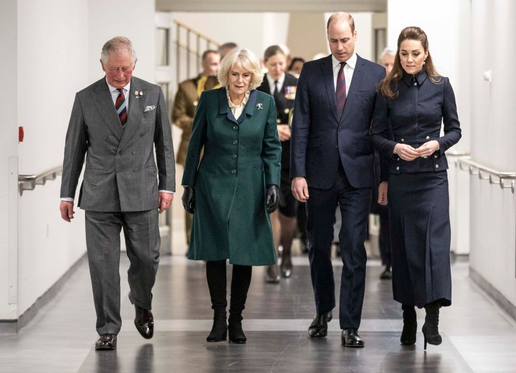 Prince Charles, Camilla Parker Bowles, Prince William, and Kate Middleton