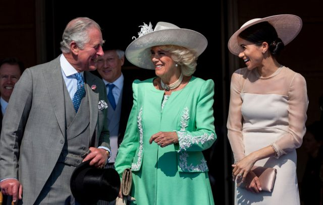 Prince Charles, Camilla Parker Bowles, and Meghan Markle on May 22, 2018 at the Prince of Wales' 70th Birthday Patronage Celebration